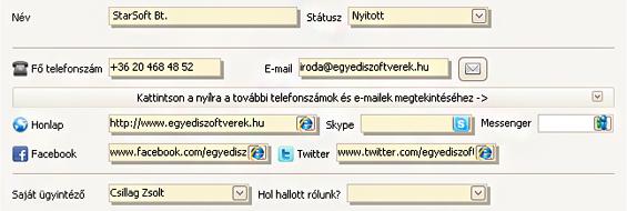 Egyszer? SMS küldés a CRM rendszerb?l